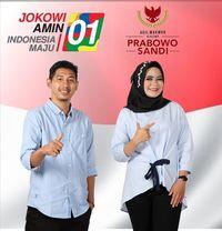 Pendukung Jokowi dan Prabowo di Lampung Nikah, Undangannya Pose 01-02