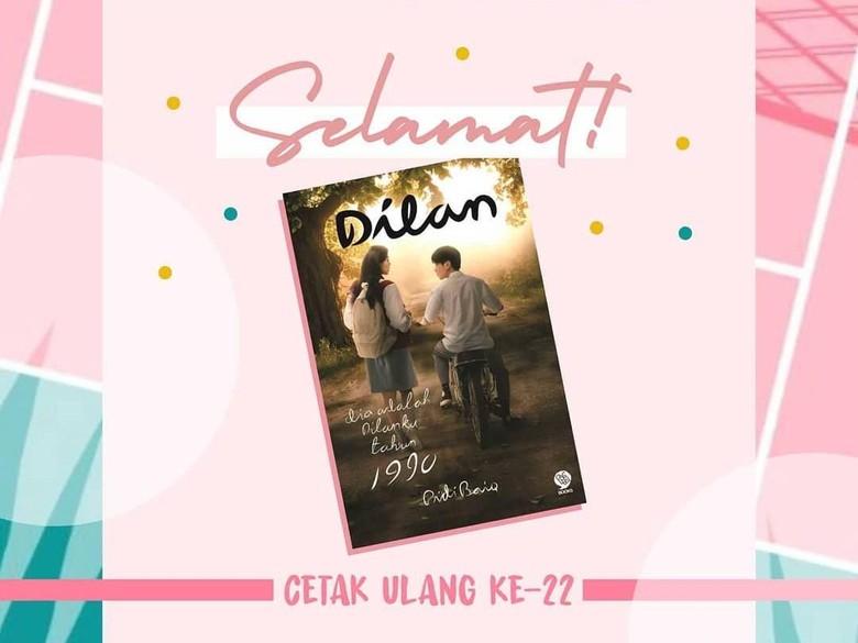 Selamat! Novel Dilan 1990 Pidi Baiq Cetak Ulang ke-22 Foto: pastelbooks/ instagram