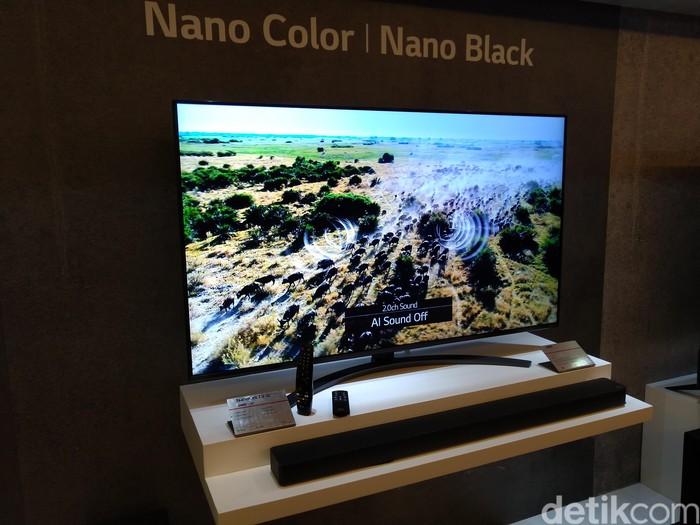 Peluncuran televisi baru LG. Foto: Imron Rosyadi/detikinet