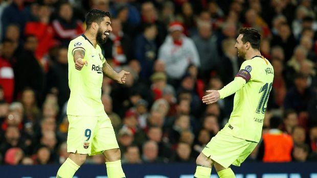 Barcelona unggul agregat 1-0 atas Manchester United.