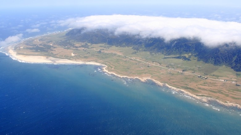 Pulau Mocha dari ketinggian (Google Maps/Tomas Brand)