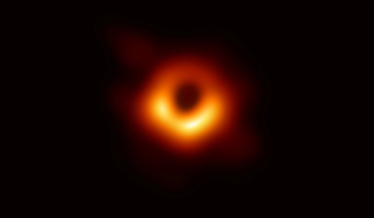 REFILE - CORRECTING SPELLING The first ever photo of a black hole, taken using a global network of telescopes, conducted by the Event Horizon Telescope (EHT) project, to gain insight into celestial objects with gravitational fields so strong that no matter or light can escape, is shown in this handout released April 10, 2019.  Event Horizon Telescope (EHT)/National Science Foundation/Handout via REUTERS   ATTENTION EDITORS - THIS IMAGE WAS PROVIDED BY A THIRD PARTY.  NO RESALES. NO ARCHIVE. TPX IMAGES OF THE DAY