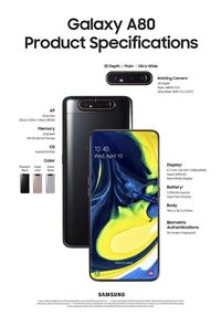 Galaxy A80,  Ponsel  dengan Kamera Pop-up Putar