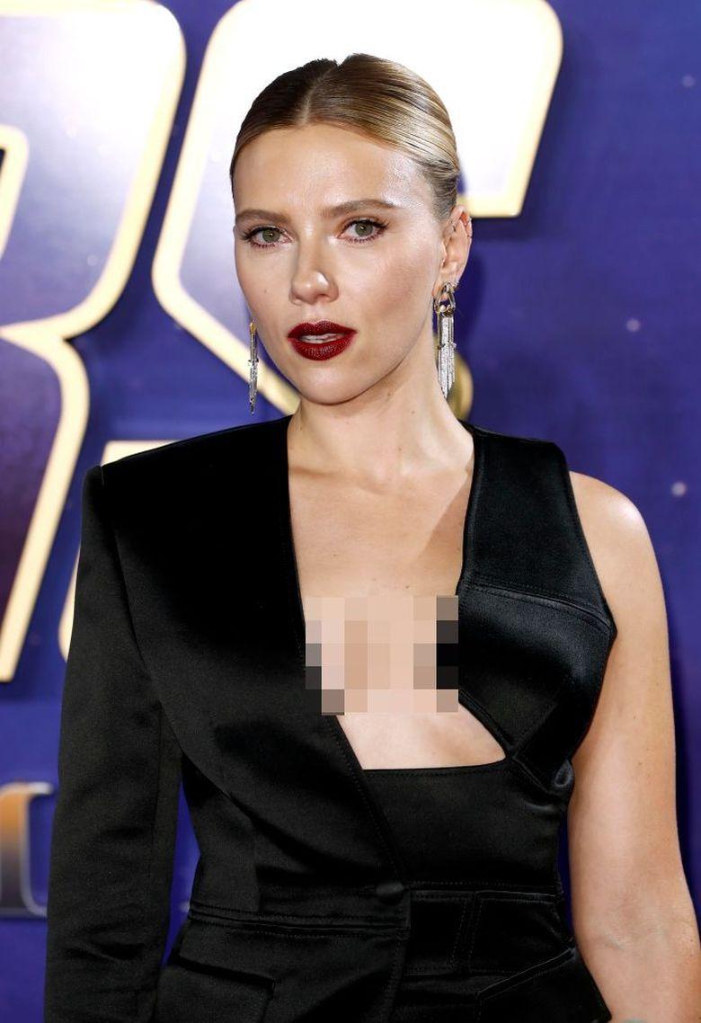 Scarlett Johansson saat hadiri acara Avengers: Endgame di London, Inggris pada Rabu (10/4) waktu setempat. John Philips/Getty Images