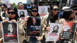 Massa Geruduk KPK Peringati 2 Tahun Kasus Novel Baswedan