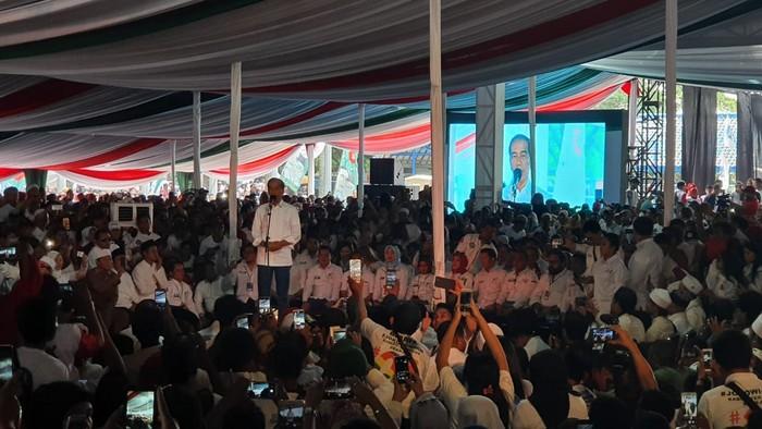 Jokowi berkampanye di Sentul. (Ray Jordan/detikcom)