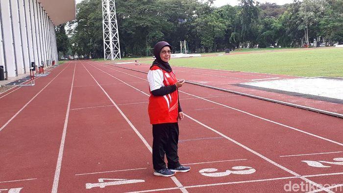 Eni Nuraini baru saja dinobatkan sebagai pelatih atletik terbaik se-Asia (Mercy Raya/detikSport)