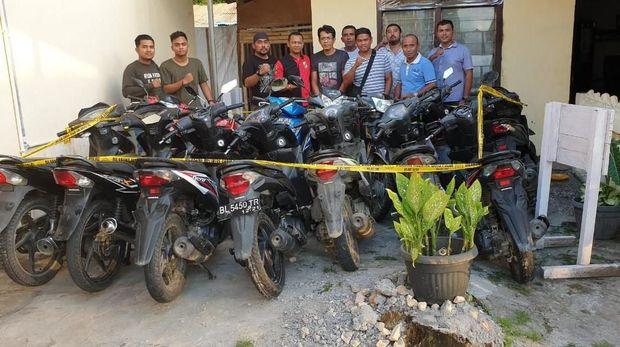 Pasutri di Aceh Jaya Ini Kompak Jadi Pencuri, 43 Sepeda Motor Disikat