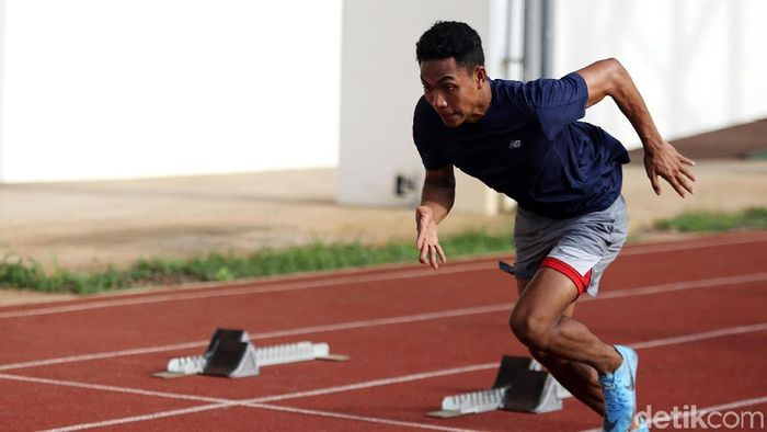 Sprinter Indonesia, Lalu Muhammad Zohri. (Foto: Agung Pambudhy)