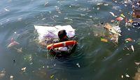 Selain kecepatan tiba di finish, jumlah sampah juga jadi bagian penilaian