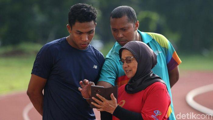 Lalu Muhammad Zohri juga mengasah fokus dan relaks.  (Agung Pambudhy/detikSport)