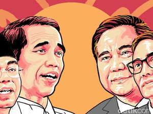 Real Count KPU 14%: Jokowi-Amin 54,91% Prabowo-Sandi 45,09%