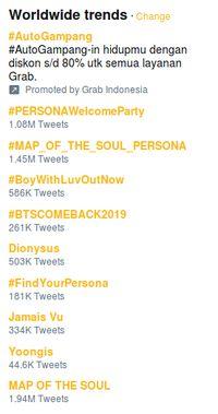 Akhirnya Comeback, BTS Dominasi Trending Topic Worldwide Twitter