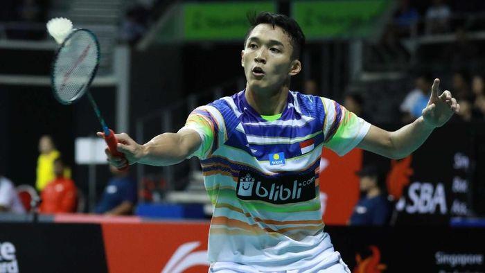 Jonatan Chtistie berpeluang diturunkan saat Indonesia vs Taiwan. (dok. Humas PBSI)