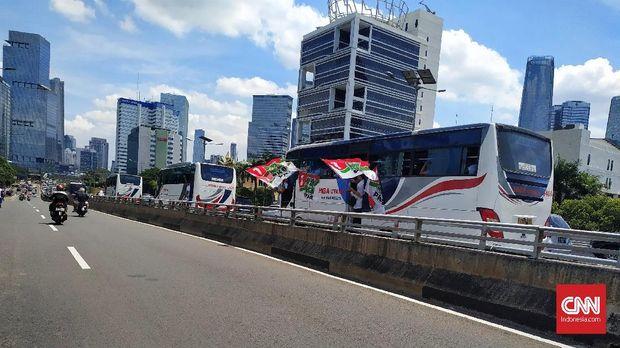 Kampanye Akbar Jokowi-Ma'ruf, Tol Dalam Kota Macet