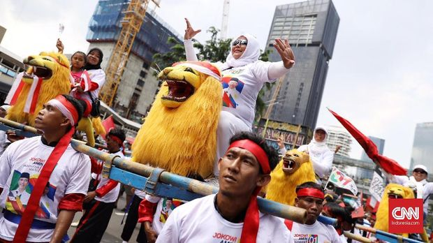 Reog Ponorogo Ramaikan Kampanye Akbar Jokowi-Ma'ruf di GBK