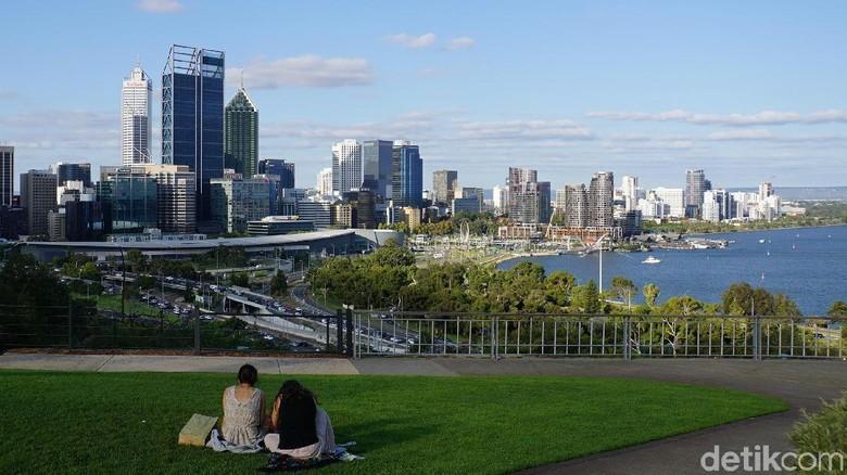 Suasana di Kings Park, Kota Perth (Masaul/detikcom)