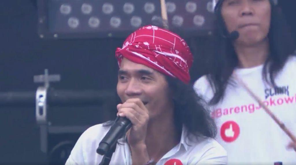 Tampil di Hadapan Jokowi dan Pendukungnya, Slank: Asyik, Asyik Banget