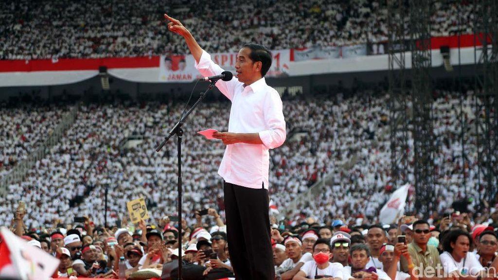 Minta Pendukung Optimistis Indonesia Maju, Ini Pidato Lengkap Jokowi di GBK