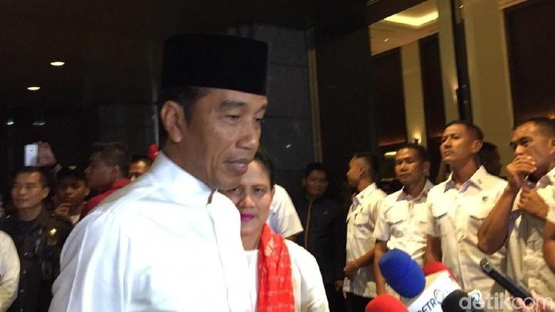 Presiden Jokowi jelang debat kelima (Jordan/detikcom)