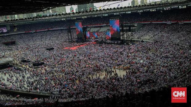 'Sukarno' Menyusup di Kampanye Akbar Jokowi-Ma'ruf di GBK