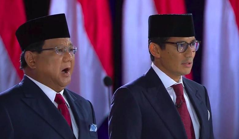13 Kali Tusuk Prabowo-Sandi, Sandiaga Dinilai Jadi Bintang Tutup Debat