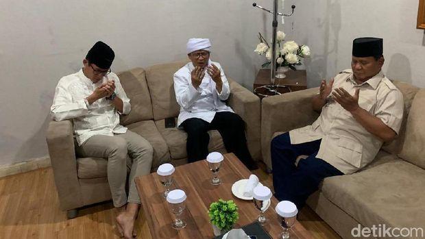 Prabowo Subianto dan Sandiaga Uno bertemu Aa Gym.