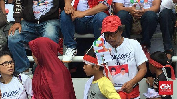 Pendukung Jokowi Ajak Anak ke Lokasi Kampanye, Tak ada Jaga