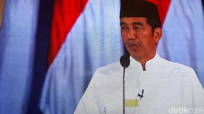 Foto: Jokowi di panggung debat pamungkas. (Dwi-detikcom)