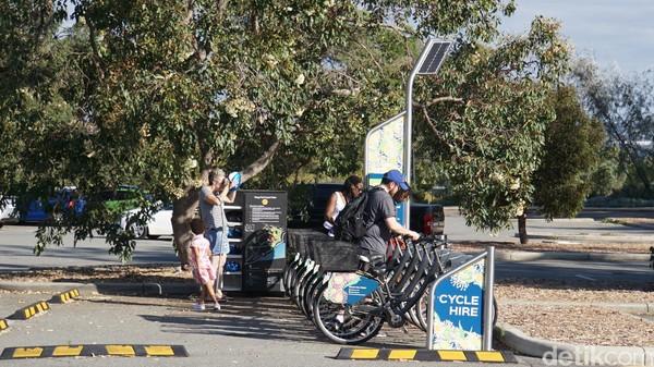 Begitu banyak fasilitas di Kings Park & Botanical Garden. Untuk mengelilingi taman seluas 400 hektar ini ada persewaan sepeda (Ahmad Masaul Khoiri/detikcom)