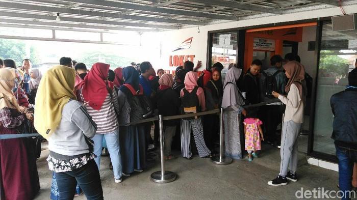 Suasana di Stasiun Kutoarjo. Foto: Rinto Heksantoro/detikcom