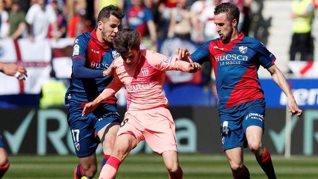 Barcelona banyak menurunkan pemain pelapis di laga lawan Huesca.