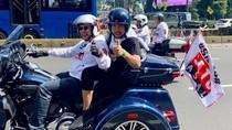 Bamsoet dan Crazy Rich Priok Konvoi Naik Moge ke Konser Putih Jokowi