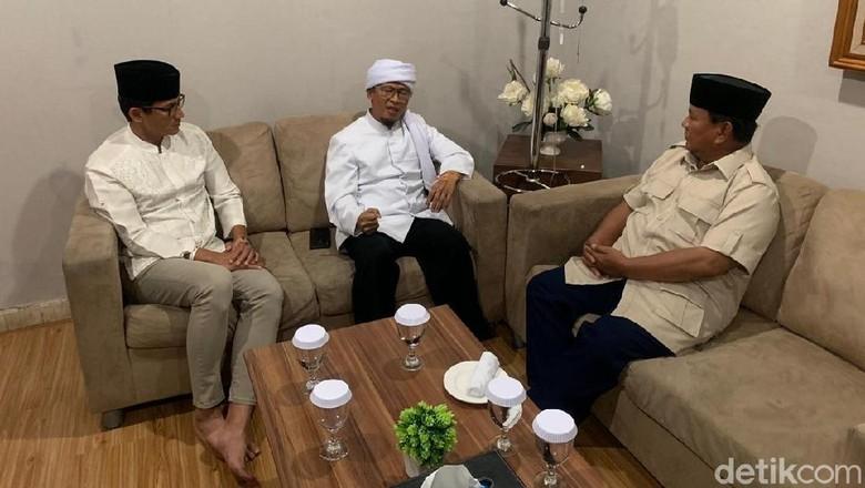 Ditemui Prabowo-Sandiaga, Aa Gym: Bismillah Saya Pilih 02