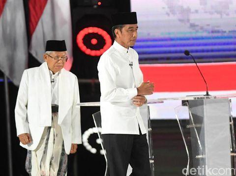 Penampilan serba putih Jokowi dan Ma'ruf Amin.