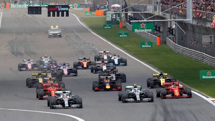Lewis Hamilton juara di GP China. (Foto: Aly Song/Reuters)