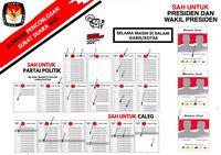 Ilustrasi surat suara dinyatakan sah di Pemilu 2019.
