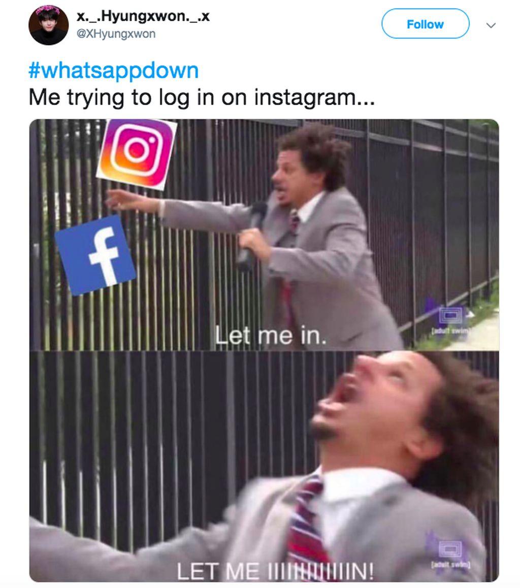 Bersikeras masuk Instagram dan Facebook tapi selalu gagal. Foto: istimewa