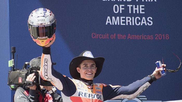 Marc Marquez saat menjuarai MotoGP Amerika Serikat 2018. (Foto: Getty Images)