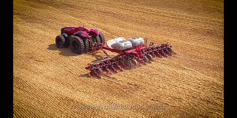 Dengan traktor robot ini, penggunaan tenaga kerja akan lebih baik dan efisien karena fungsi tanpa awaknya. Istimewa.