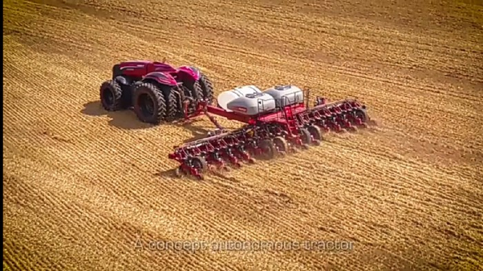 Kemajuan teknologi saat ini sangat pesat, salah satunya adalah dalam industri pertanian. Seperti traktor robot dibawah ini.