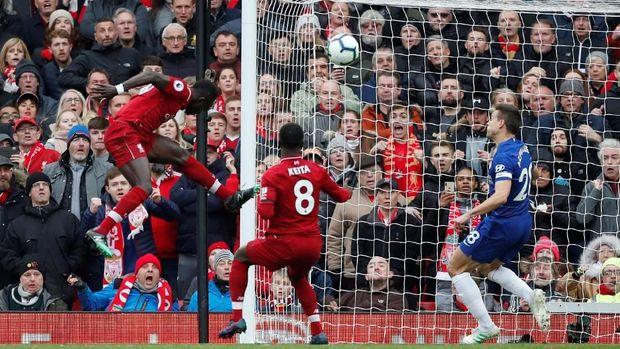 Sadio Mane membuka keunggulan Liverpool di awal babak kedua.