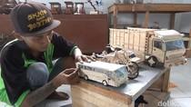 Keren, Miniatur Kendaraan dari Stik Es Krim Karya Napi Rutan Trenggalek
