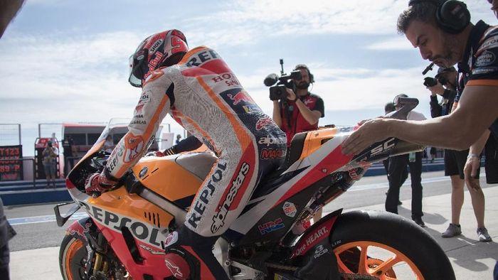 Marc Marquez pole position di balapan MotoGP Amerika Serikat (Mirco Lazzari gp/Getty Images)