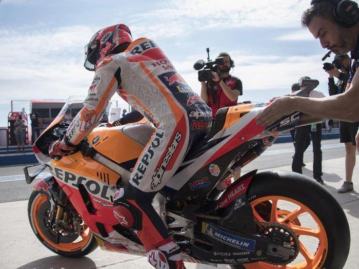Marc Marquez di paddock Repsol Honda. (Foto: Mirco Lazzari gp/Getty Images)