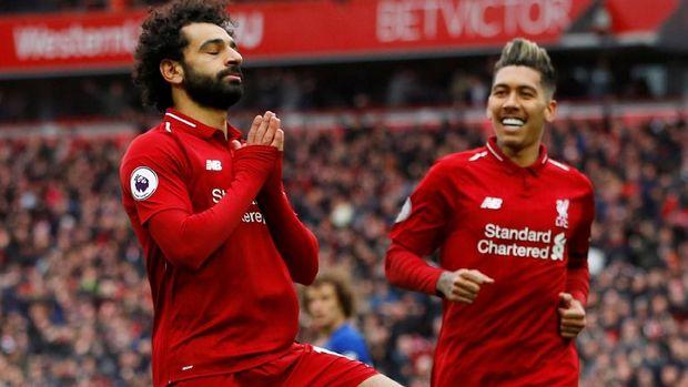 Mohamed Salah sudah cetak lima gol dari delapan laga lawan Chelsea.