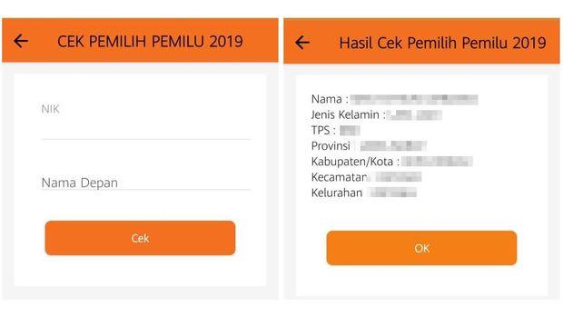 Cara Cek Nama di DPT Pemilu 2019 via Aplikasi