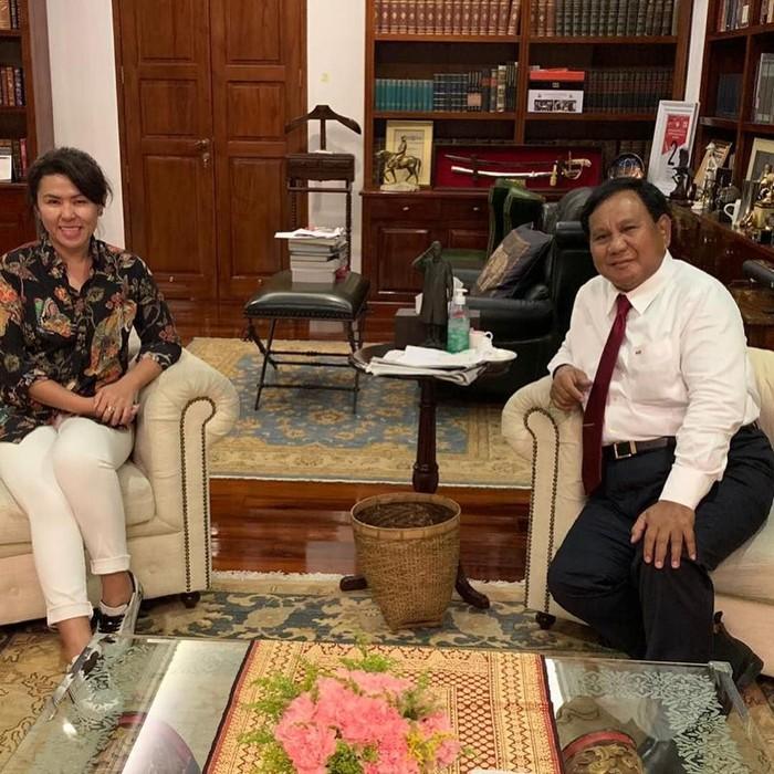 Adik Ahok, Fifi Lety Indra, bertemu Prabowo. (Instagram fifiletytjahajapurnama)