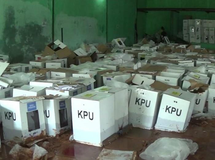 Sebanyak 680 kotak suara rusak di Kabupaten Bogor, Jawa Barat. (Istimewa)