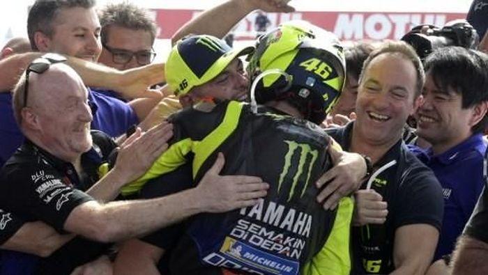 Valentino Rossi tak kecewa-kecewa amat meski gagal menang di MotoGP Amerika Serikat (Juan MABROMATA / AFP)